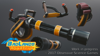 BadLands RoadTrip Gatling Gun render