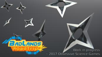 BadLands RoadTrip shuriken render